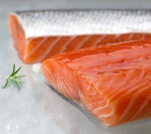 salmón salgado congelados